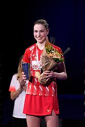 DK:<br /> 20190209, &Aring;rhus, Danmark:<br /> Badminton Danmark FZ Forza/RSL DM 2019. <br /> Dame single: Mia Blichfeldt vs. Line Kj&aelig;rtsfeldt. <br /> Guldvinder Line Kj&aelig;rsfeldt<br /> Foto: Lars M&oslash;ller<br /> UK: <br /> 20190209, Aarhus, Denmark:<br /> Badminton Danmark FZ Forza/RSL DM 2019.<br /> Dame single: Mia Blichfeldt vs. Line Kj&aelig;rtsfeldt. Guldvinder Line Kj&aelig;rsfeldt<br /> Photo: Lars Moeller