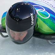 Winter Olympics, Vancouver, 2010.Marion Trott, Germany, in action during the Skeleton  competition at Whistler Sliding Centre, Whistler, during the Vancouver Winter Olympics. 18th February 2010. Photo Tim Clayton