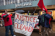 3 Jan. 2015 - John Lewis cleaners demand London Living Wage