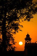 Sunset at Wagah Border of India