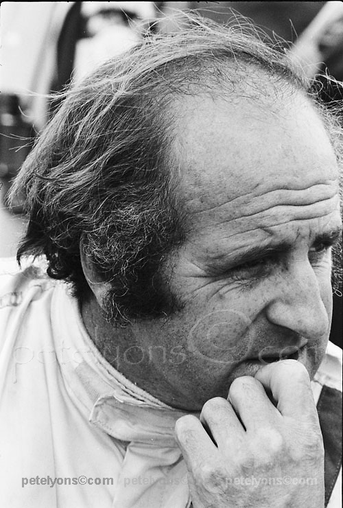 Denny Hulme; photo by the late Jim Chambers, included with his permission