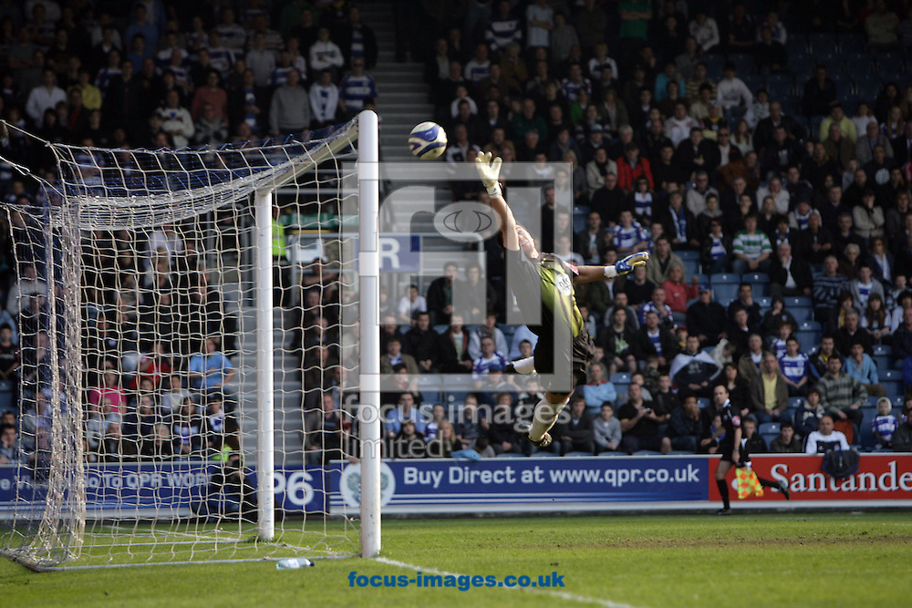 London - Saturday March 21st, 2009: Bristol City goalkeeper Adriano Basso can only watch as Jordi Lopez (out of picture) of QPR scores his side's first goal during the Coca Cola Championship match at Loftus Road, London. (Pic by Mark Chapman/Focus Images)