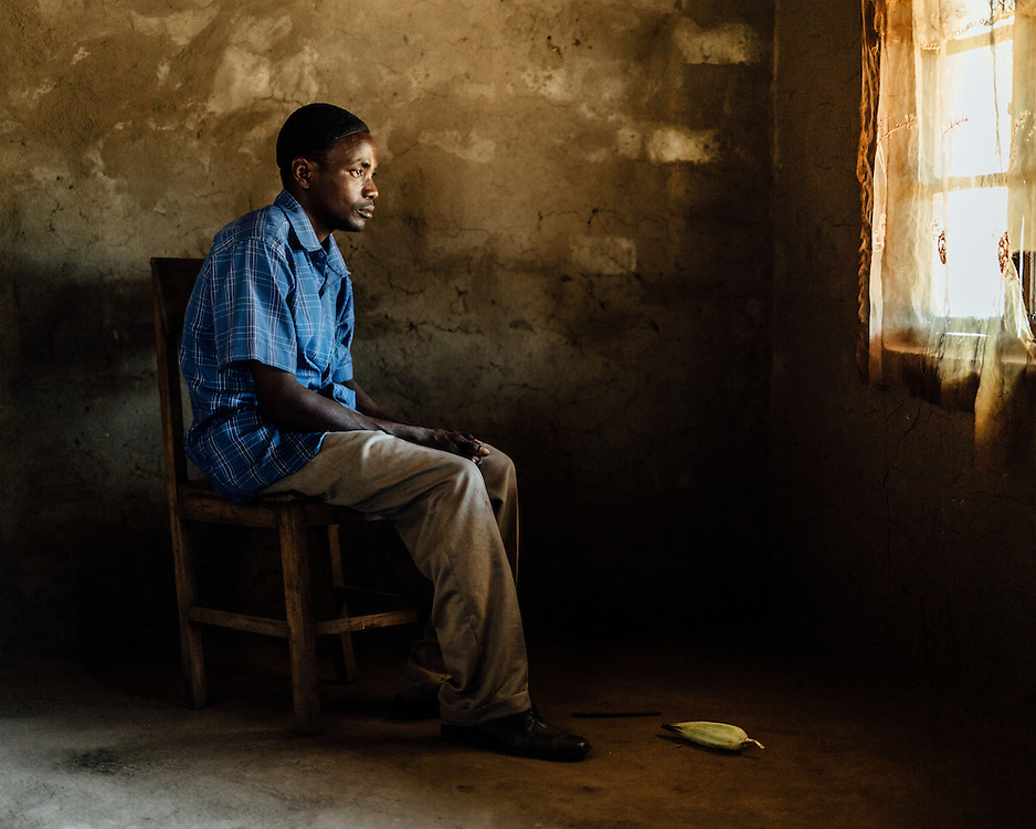 """Sadik Ali, 33, Namungume Village, Malawi. """"I lost my cousin."""" 
