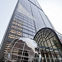Willis Tower (Sears Tower) in Chicago. Willis Tower is one of the tallest buildings in Chicago and the world.