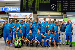 Slovenian deaf team before departure to 23rd Summer Deaflympics in Samsun, Turkey, on July 14, 2017 at Airport Joze Pucnik, Brnik, Slovenia. Photo by Vid Ponikvar / Sportida