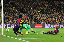 Barcelona's Jordi Alba goal is disallowed for offside - Photo mandatory by-line: Dougie Allward/JMP - Mobile: 07966 386802 - 18/03/2015 - SPORT - Football - Barcelona - Nou Camp - Barcelona v Manchester City - UEFA Champions League - Round 16 - Second Leg