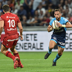 Aaron Cruden of Montpellier during the Top 14 semi final match between Montpellier Herault Rugby and Lyon on May 25, 2018 in Lyon, France. (Photo by Alexandre Dimou/Icon Sport)