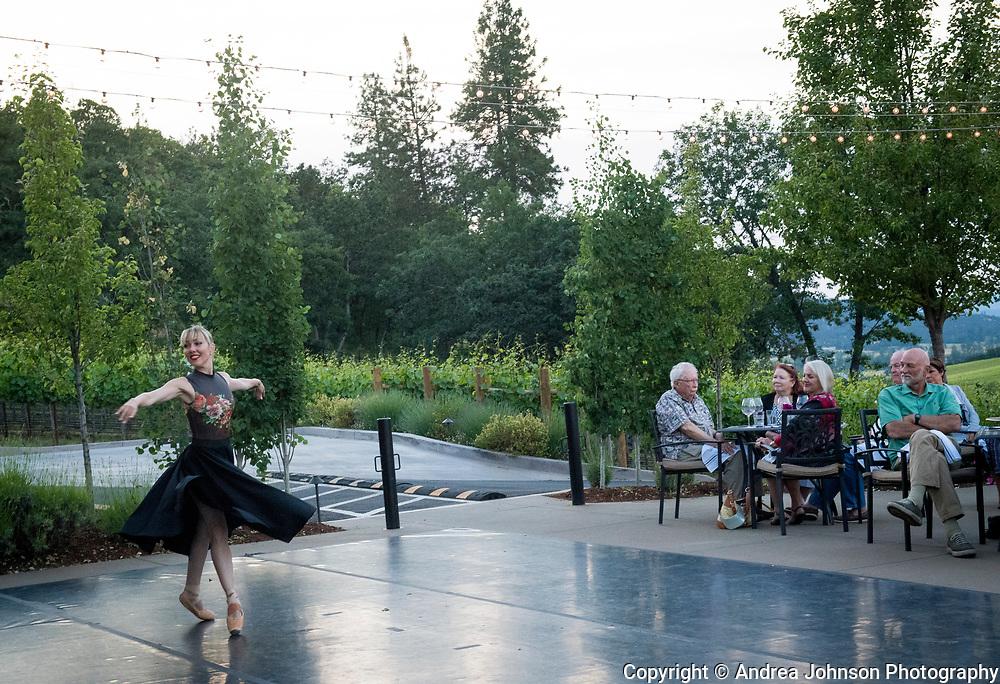 Winemaker dinner at Dancin Vineyards near Jacksonville,  Rogue Valley AVA, Southern Oregon