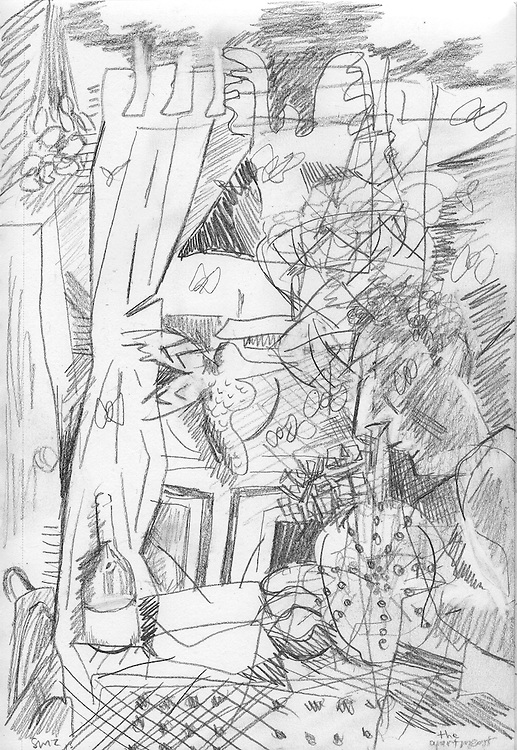 "The Apartment – 5.5""x8.5"", Graphite on paper, 2013"