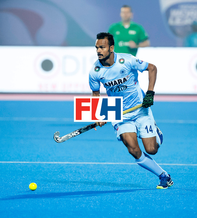 BHUBANESWAR - The Odisha Men's Hockey World League Final . Lalit Upadhyay (Ind) during  the match India v Germany. WORLDSPORTPICS COPYRIGHT  KOEN SUYK