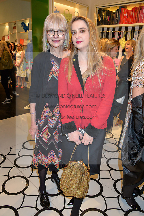 Left to right, JAN DE VILLENEUVE and DAISY DE VILLENEUVE at the opening party of the new Kate Spade New York store at 182 Regent Street, London on 21st April 2016.