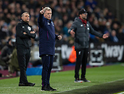 LONDON, ENGLAND - Wednesday, January 29, 2020: West Ham United's manager David Moyes during the FA Premier League match between West Ham United FC and Liverpool FC at the London Stadium. (Pic by David Rawcliffe/Propaganda)