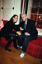 Artist JAKE CHAPMAN and his wife ROSEMARY at a party hosted by gallery Haunch of Venison to celebrate Harry Blain's 40th birthday held at Sketch, 9 Conduit Street, London W1 on 10th October 2007.<br />