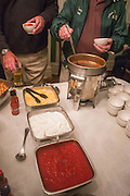 A chili bar was served at 1960s hockey alumni reunion at the Konneker Alumni House on September 30, 2016.