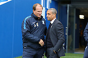 Preston Manager Simon Grayson and Brighton Manager Chris Hughton during the Sky Bet Championship match between Brighton and Hove Albion and Preston North End at the American Express Community Stadium, Brighton and Hove, England on 24 October 2015. Photo by Phil Duncan.