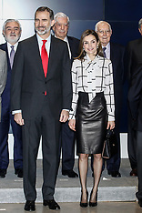 Madrid: Spanish royals attend conference 13 Feb 2017