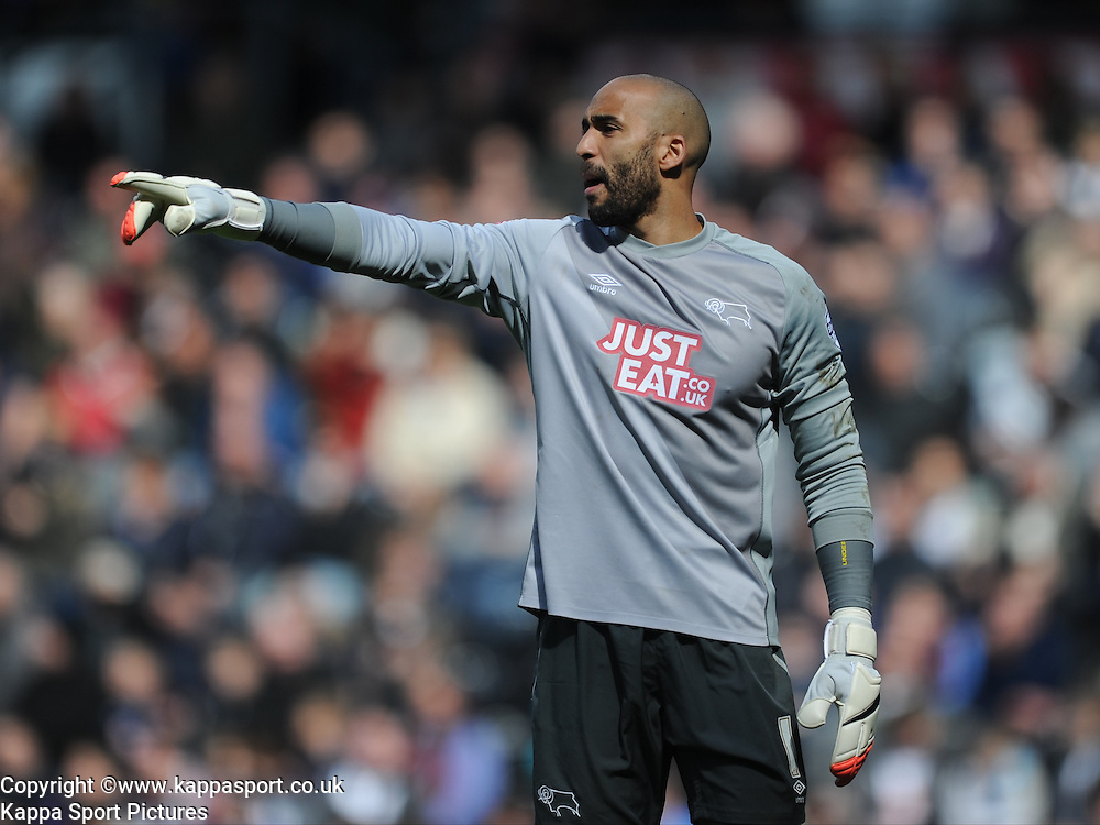 Lee Grant Goalkeeper Derby County, Derby County, Derby County v Brentford, Sky Bet Championship, IPro Stadium, Saturday 11th April 2015. Score 1-1,  (Bent 92) (Pritchard 28)<br /> Att 30,050