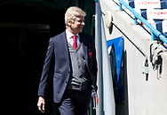 Arsene Wenger arrives at the ground as he is set to manage his final Arsenal game during the Premier League match at the John Smiths Stadium, Huddersfield<br /> Picture by James Wilson/Focus Images Ltd 07522 978714<br /> 13/05/2018