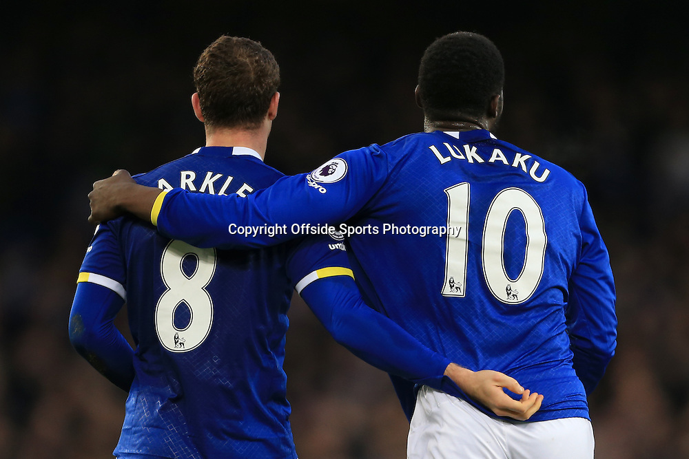 4th February 2017 - Premier League - Everton v Bournemouth - Ross Barkley of Everton and teammate Romelu Lukaku celebrate - Photo: Simon Stacpoole / Offside.