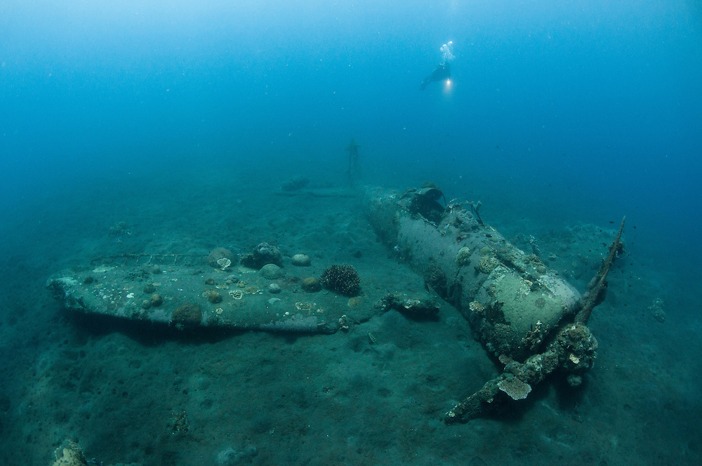 World War 2 Japanese fighter jet the Zero underwater in Papua New Guinea