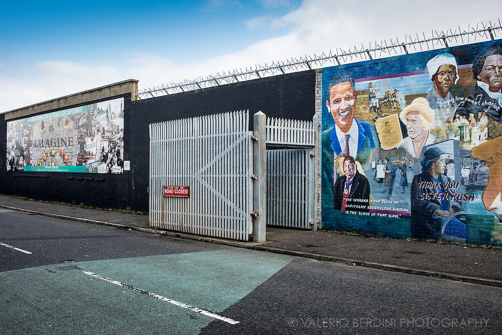 Belfast's Northumberland Street is between the mainly Protestant Shankill area and mainly Catholic the Falls. This gate is now permanently open.