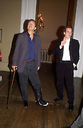 Mario Testino and guest, Cy Twombly: 50 Years of Works on Paper private view at the Serpentine and dinner at Banqueting House. 16 april 2004. ONE TIME USE ONLY - DO NOT ARCHIVE  © Copyright Photograph by Dafydd Jones 66 Stockwell Park Rd. London SW9 0DA Tel 020 7733 0108 www.dafjones.com