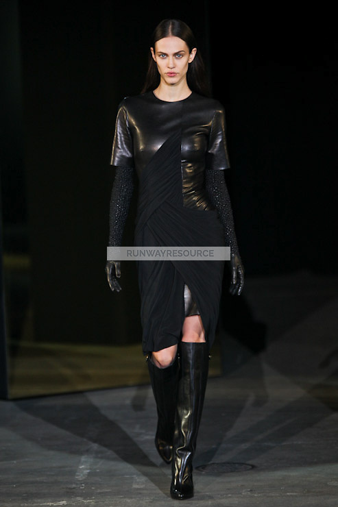 Aymeline Valade walks down runway for F2012 Alexander Wang's collection in Mercedes Benz fashion week in New York on Feb 12, 2012 NYC