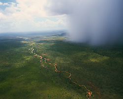 A wet season storm brings rain to the Kimberley inland in the wet season.