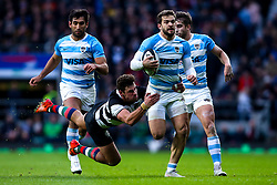 Ramiro Moyano of Argentina is tackled by Tom English of Barbarians   - Mandatory by-line: Robbie Stephenson/JMP - 01/12/2018 - RUGBY - Twickenham Stadium - London, England - Barbarians v Argentina - Killick Cup