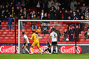 Preston North End midfielder Daniel Johnson (11) scores goal to go 2-2 during the EFL Sky Bet Championship match between Sheffield United and Preston North End at Bramall Lane, Sheffield, England on 22 September 2018. Picture. Ian Lyall