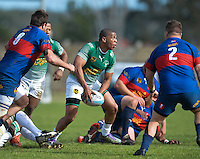 GEORGE, SOUTH AFRICA - SEPTEMBER 24: Divandre Strydom of RSK Evergreens during the Gold Cup 2016 match between RSK Evergreens and Pirates at Pacaltsdorp Sports Ground on September 24, 2016 in George, South Africa. (Photo by Roger Sedres/Gallo Images)