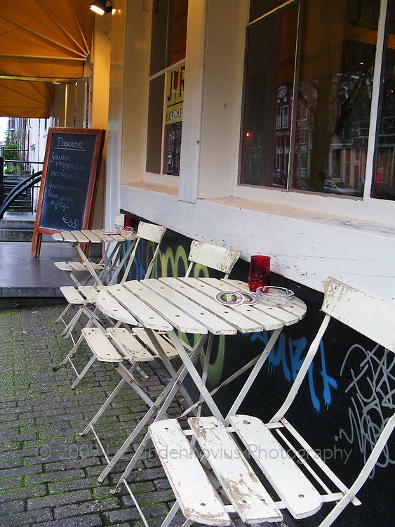 Sidewalk Cafe in Amsterdam, Holland
