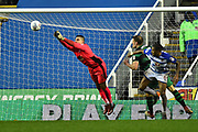 Vito Mannone (1) of Reading punches the ball clear during the EFL Sky Bet Championship match between Reading and Queens Park Rangers at the Madejski Stadium, Reading, England on 30 March 2018. Picture by Graham Hunt.