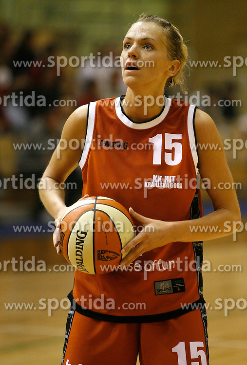 Lidija Becanovic at finals of Slovenian women basketball 1st league between Hit Kranjska Gora and ZKK Merkur Celje, on May 15, 2007, in Kranjska Gora, Slovenia. (Photo by Vid Ponikvar / Sportida)