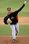 Oklahoma State starting pitcher Josh Fritsche struggled, giving up three runs on five hits in 2 2/3rd innings against Kansas State.  Oklahoma State defeated K-State 9-4 in 10 innings at Tointon Stadium in Manhattan, Kansas, April 30, 2006.
