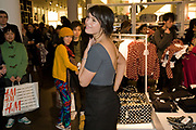 GEMMA ARTERTON, H & M preview of Come Des Garcons for H & M. H & M Regent St. London W1. 12 November 2008.  *** Local Caption *** -DO NOT ARCHIVE-© Copyright Photograph by Dafydd Jones. 248 Clapham Rd. London SW9 0PZ. Tel 0207 820 0771. www.dafjones.com.