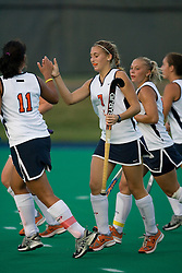 Virginia Cavaliers F Kaitlyn Hiltz (7) scored against Cal.  ..The Virginia Cavaliers field hockey team faced the California Bears at the University Hall Field Turf in Charlottesville, VA on October 4, 2007.