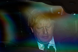 © Licensed to London News Pictures. 20/12/2019. London, UK. Prime Minister Boris Johnson leaves parliament after MPs voted to pass Boris Johnson's Withdrawal Agreement Bill. Photo credit: Rob Pinney/LNP