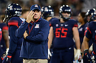 TUCSON, AZ - NOVEMBER 14:  Head coach Rich Rodriguez of the Arizona Wildcats reacts on the field prior to the game against the Utah Utes at Arizona Stadium on November 14, 2015 in Tucson, Arizona.  (Photo by Jennifer Stewart/Getty Images)