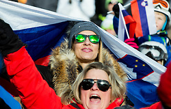 Supporters  during Men's Parallel Giant Slalom at FIS Snowboard World Cup Rogla 2015, on January 31, 2015 in Course Jasa, Rogla, Slovenia. Photo by Vid Ponikvar / Sportida