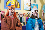 08/12/2014   Matheew Irwin playing Joseph and Katelyn Malone playing Mary from Fanore National school performing the Nativity at the Church in Fanore Co. Clare   Photo:Andrew Downes