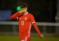 BANGOR, WALES - Saturday, November 17, 2018: Wales' Sam Bowen during the UEFA Under-19 Championship 2019 Qualifying Group 4 match between Sweden and Wales at the Nantporth Stadium. (Pic by Paul Greenwood/Propaganda)