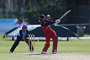 Lancashire Thunders Georgie Boyce during the Vitality T20 Blast North Group match between Lancashire Thunder and Yorkshire Vikings at Liverpool Cricket Club, Liverpool, United Kingdom on 13 August 2019.