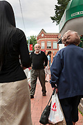 children book illustrator and artist Eric Carle walking Massachusetts 2006