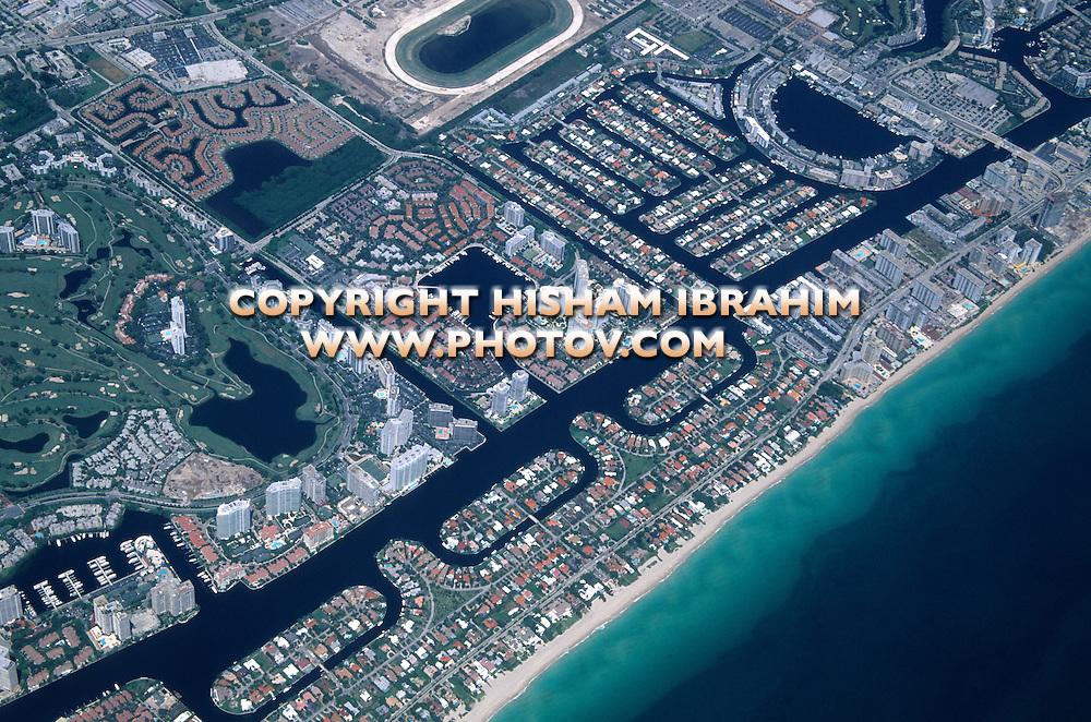 Aerial View of Miami, Florida - USA