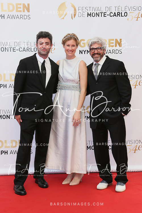 MONTE-CARLO, MONACO - JUNE 11:  Matthew Cassel (L) and guest attends the Closing Ceremony and Golden Nymph Awards of the 54th Monte Carlo TV Festival on June 11, 2014 in Monte-Carlo, Monaco.  (Photo by Tony Barson/FilmMagic)