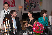 ANTHONY HOWELL; LUCY MARRIOT; GILLY SANGUINETTI, Veronica Moncho Lobo dinner. Argentinian fashion designer hosts i pre-BAFTA dinner with  style editor Sophie Goodwin, to showcase her line of red carpet gowns. Albert Hall Mansions. London. SW7