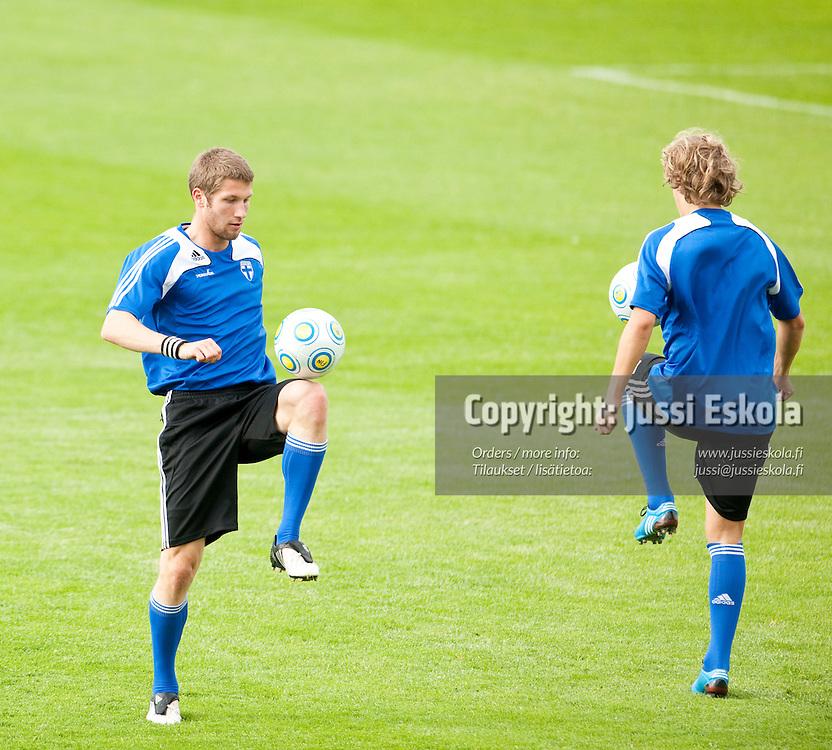 Joona Toivio. Alle 21-vuotiaiden maajoukkueen harjoitukset. Häckenin stadion, Göteborg, Ruotsi 20.6.2009. Photo: Jussi Eskola