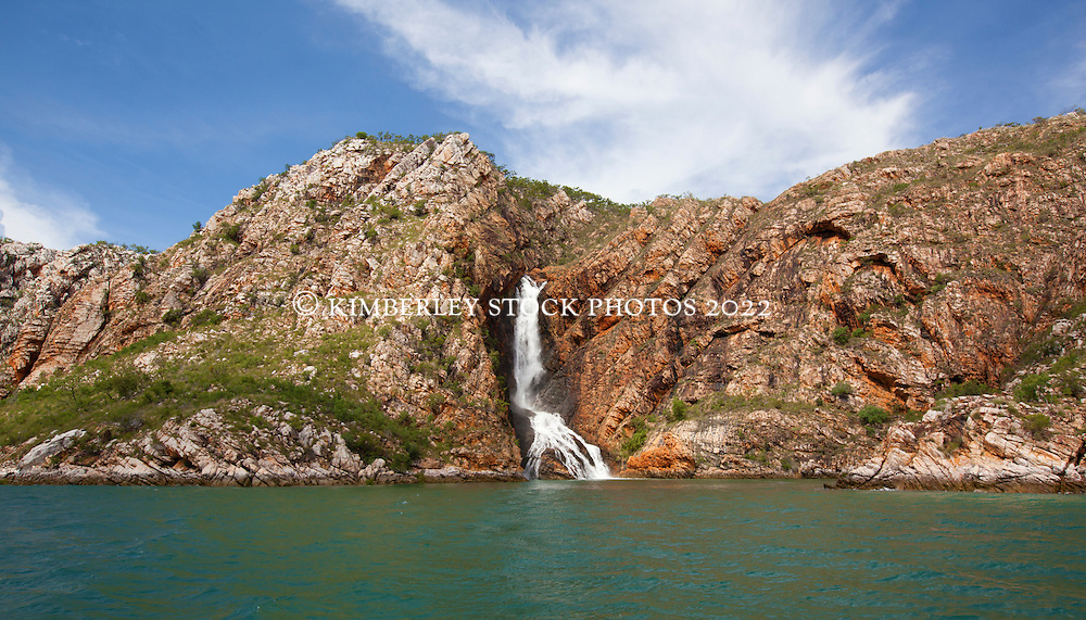 Turtle Falls in Dugong Bay in the 2011 Kimberley wet season.