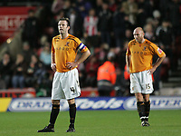 Photo: Lee Earle/Sportsbeat Images.<br /> Southampton v Hull City. Coca Cola Championship. 08/12/2007. Hull's Ian Ashbee (L) and Wayne Brown look dejected after Southampton scored their third.
